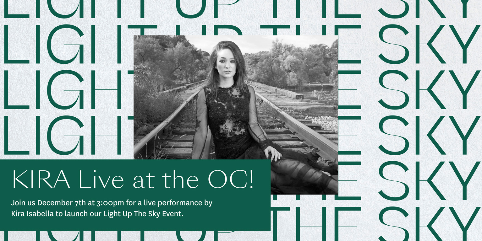 Country Music Star Kira Isabella performs live at the Oshawa Centre to kick off this year's Light up the Sky program