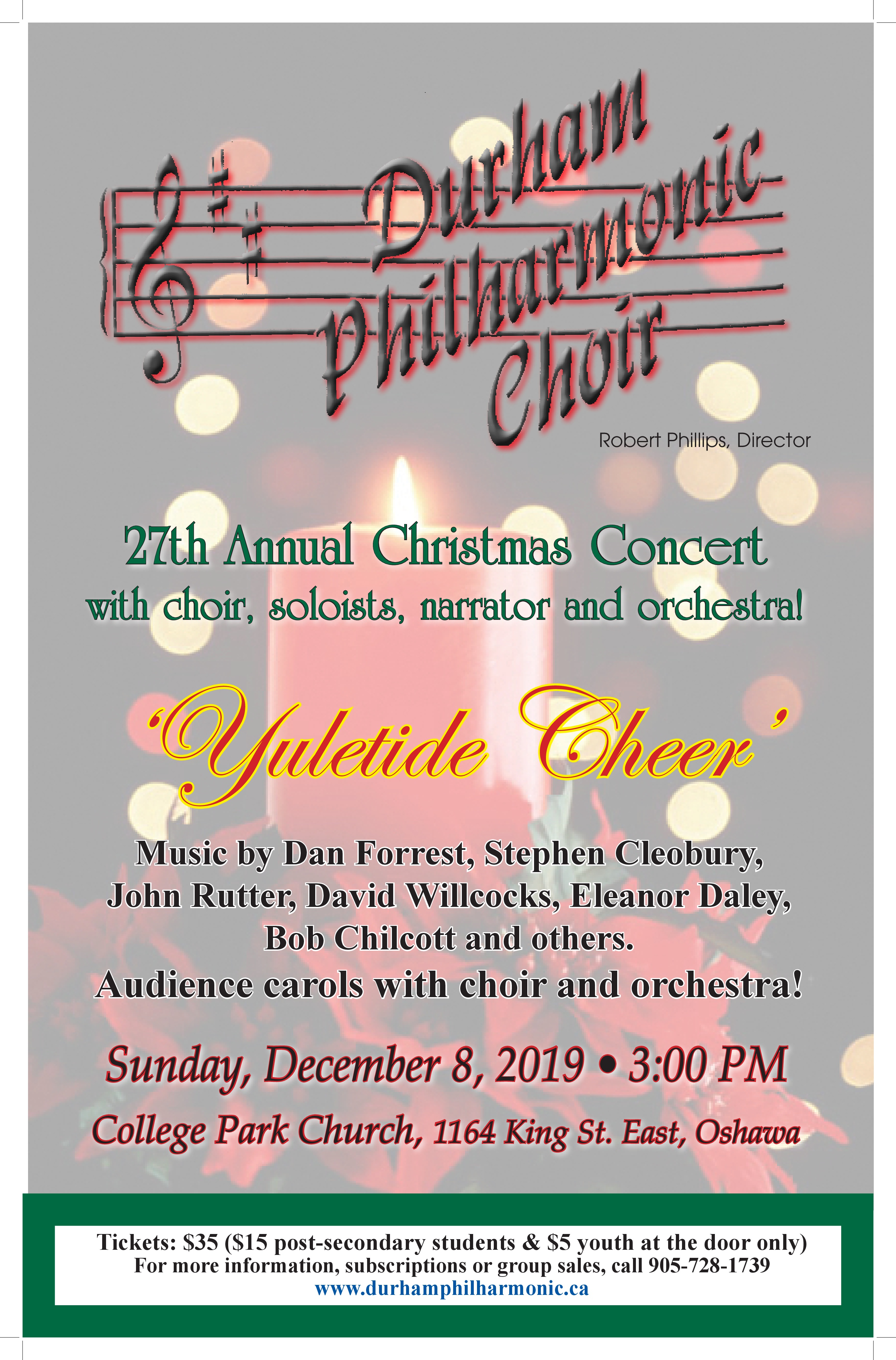 Durham Philharmonic Choir Christmas Concert YULETIDE CHEER!
