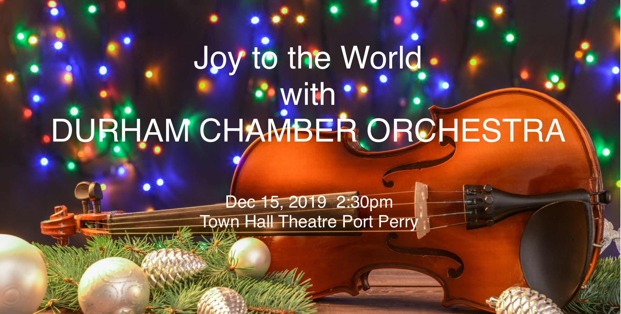 Joy to the World with DURHAM CHAMBER ORCHESTRA